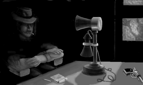 I've been drawing Film Noir scenes