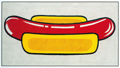 Hot Dog by Roy Lichtenstein