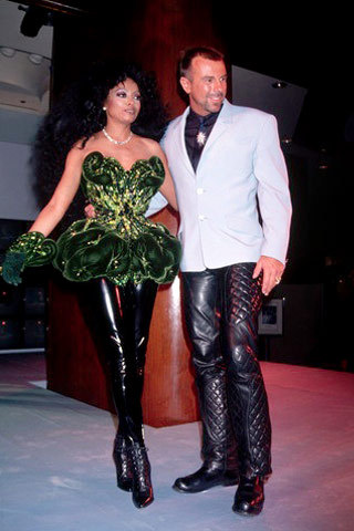 Diana Ross and Mr. Thierry Mugler….
