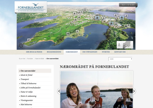I recently did the frontend (HTML, CSS, Javascript) for Fornebulandet, which is a building project set at a former airport in oslo.