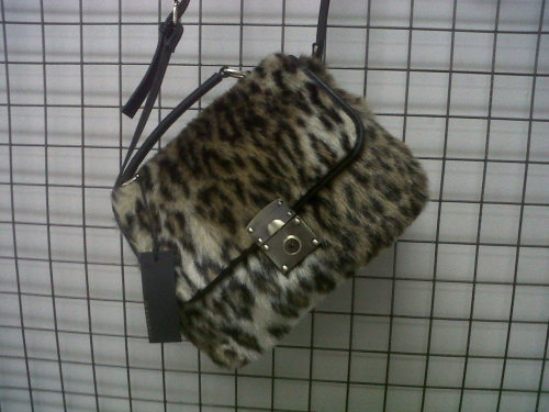 MY FAVOURITE THING TODAY: Furry leopard print bag, Jo Borkett.