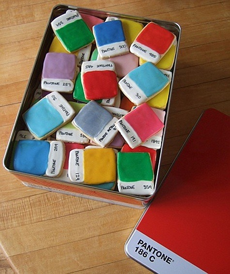 Pantone Chip Cookies via Kim Neill (found on Design*Sponge)
