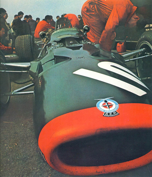 ecurie:  July 20, 1968.  BRM P133 at the British GP.