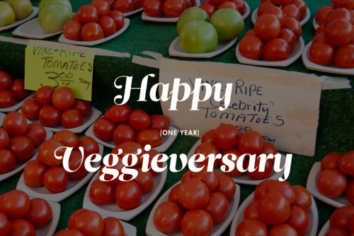 Yesterday was my one-year veggieversary! I have been vegetarian for a year, and what a wonderful and tasty year it has been. If you're bored with your food, try going veg for a week; the need to combine foods for optimal health (for example, you need Vitamin C in the same meal to absorb plant-based iron effectively) can lead to creative combinations. One of my favorite collections of recipes: the vegetarian category of Everybody Likes Sandwiches