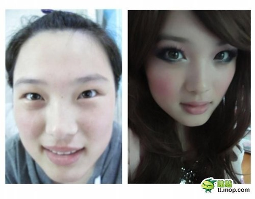 asian girls � before and after makeup korean you say
