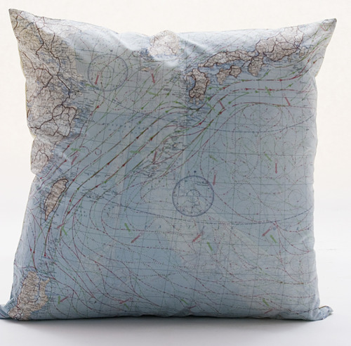 New Atelier 688 original silk aviator map cushion (Japan and pacific ocean) just in! $210.00