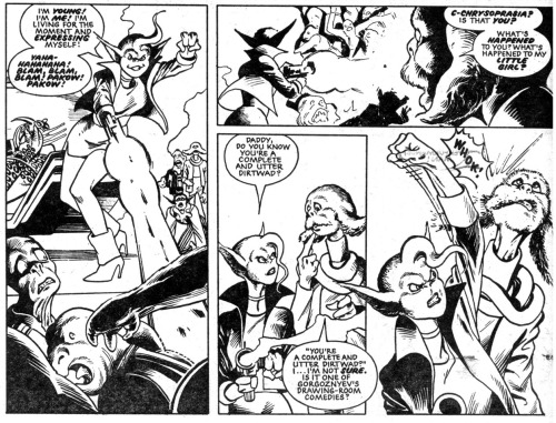 'What's Happened To My Little Girl?' DR and Quinch Go Girl Crazy! - 2000 AD #354, artist: Alan Davis