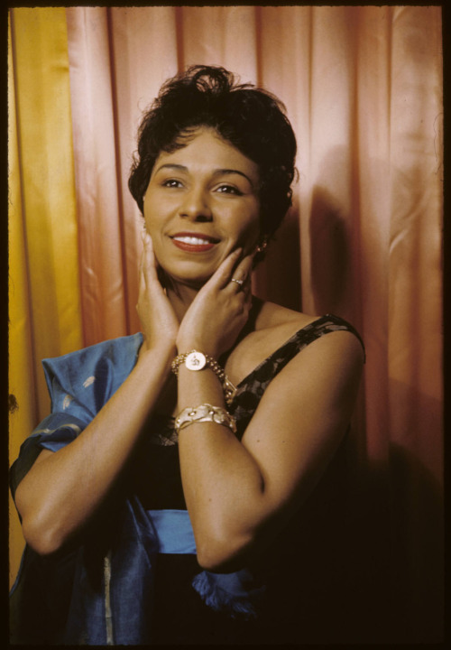 My aunt Margaret Tynes photographed by Carl Van Vechten on September 29, 1959. She had a phenomenal international career as a singer in opera, jazz and theater for over fifty years. A graduate of North Carolina A&T State University (BA 1939) and Columbia University (MA 1944), she starred as Harry Belafonte's leading lady off-Broadway in a show he produced called Sing Man, Sing! She also recorded a jazz suite called A Drum is a Woman with Duke Ellington and made several appearances on  The Ed Sullivan Show. In 1961, she gained international acclaim as Salomé at the Spoleto Festival of the Two Worlds in Italy, where she lived for more than forty years.