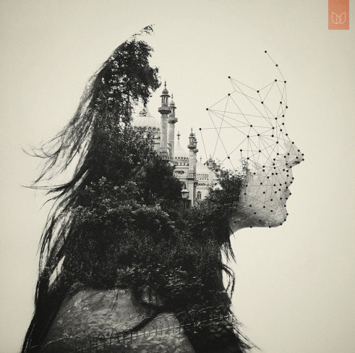 marstheme:  Double Exposure Beautiful composition of two photographs and vector illustrations by Dan Mountford.  Check out the other eight images in his Double Exposure set on Flickr.