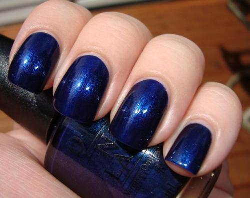 "OPI ""Yoga-to Get This Blue!""  Via Get Nailed By Polish. ** This is another color featured in the ALU Favorites 2010 vote. I voted (hey, I should get a sticker!) and I found myself Google image searching a lot of the candidates. This is a blue I can believe in."