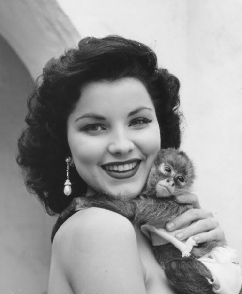 Debra Paget and a little friend - c. 1950s