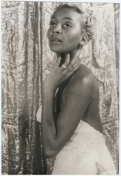 "ladyfresh: love NPR vintageblackglamour:  Joyce Bryant by Carl Vechten.  By all accounts, she had real talent, but the focus was on her sexy image despite her undeniable soprano (with 4 octave range). Once dubbed the ""black Marilyn Monroe,"" constant mentions in Walter Winchell's gossip column made her a star and she was widely considered the first dark-skinned Black woman to be considered a sex symbol inside and outside of the black community.  Joyce earned nearly $1 million at her peak, but her upbringing in a very strict Seventh Day Adventist home left her feeling guilty about sex and her sexy image.  According to Dorothy Dandridge's biographer Donald Bogle, Dorothy pulled Joyce aside after a date in still-segregated Miami Beach and asked for advice on negotiating her nightclub fees (""What do you do? How do you get ask?)  She was also very impressed with her stage presence (""How do you walk up on that stage and stay as calm as you are? It seems so easy for you."") After a series of trying events, Joyce Bryant left show business at the top of her career and returned home and to the church. She worked with the church for 20 years, singing, ministering to the poor, enduring sexism and lies from people who were less than forgiving about her past. Finally, disappointed with the people in her church, she left and eventually made her way back to the stage. After doing opera in Europe, South America and the New York Opera Company, she had a successful cabaret run in the late 1970s and 1980s."