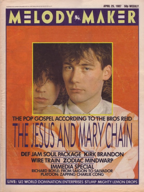 The Jesus and Mary Chain - Melody Maker cover 1987 (50p!!!)