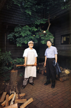 film-dot-com:  MIYAZAKI & TAKAHATA badasses looking bad.