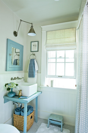 mommycoddle:  Cottage Bathrooms | The Inspired Room photo source: Coastal Living (link in blog post)