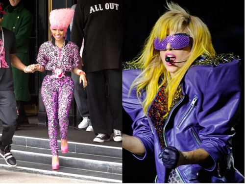 Nicki Minaj vs Lady Gaga in a fashion walk-off at Flavorwire.
