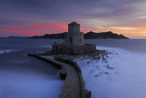 lori-rocks:  Dark Tower by konstantinos The medieval fortress of Methoni in Peloponnese, Greece
