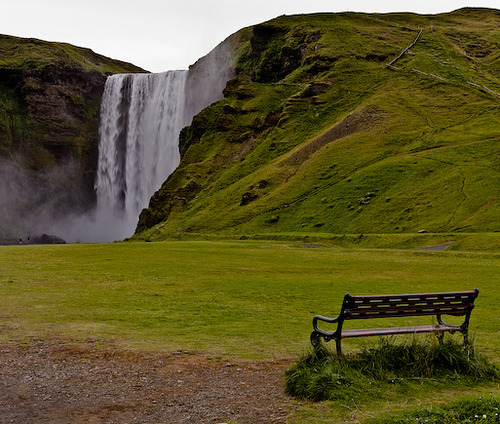 icelandwantstobeyourfriend:  I have many waterfalls that will fall for you, if you have time to look at them. (My Skógafoss even has a nice bench for you to sit on if you are very tired.)  Sigh I love this waterfall.