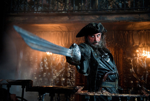 Exclusive! First image of Ian Mcshane as Blackbeard in Pirates 4! Disney have given Total Film an exclusive first look at Ian McShane as Blackbeard in upcoming Pirates of the Caribbean sequel, On Stranger Tides.