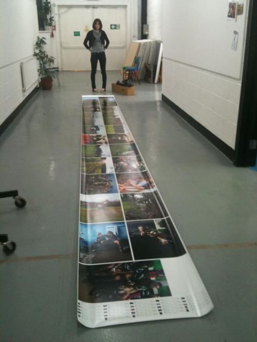 Today I did just over a 10 meter print!  After I rolled it out for this photo I dusted it don't worry!  I was so worried it wouldn't come out!