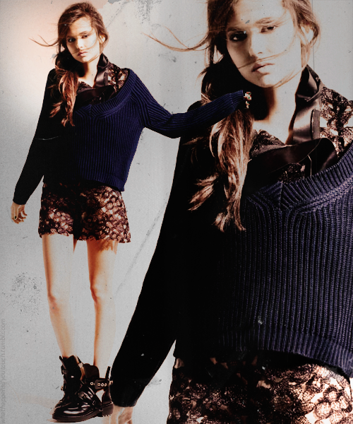 Nina Dobrev for Elle Magazine