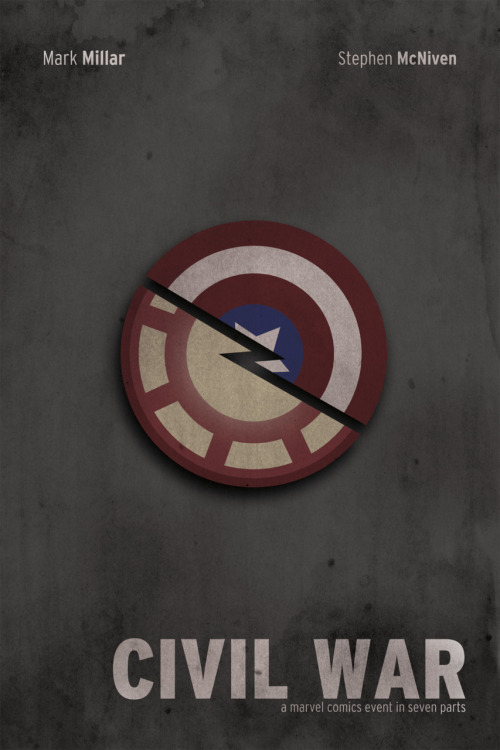 Minimalist Civil War  - by Adam Dello Buono