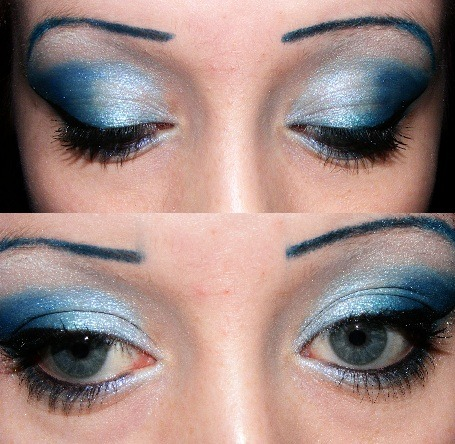 Someone asked me to do my eye an ice blue colour… and here they are xx