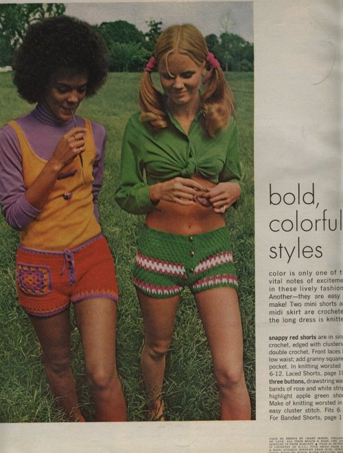 sweatersnfeathers:  But I'm really feeling these crocheted hotpants.  I need these crocheted hotpants =]