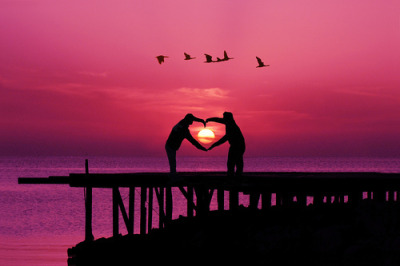lovelynotes:  Sunset love…