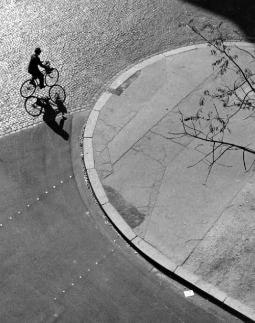 André Kertész, Paris (man on bicycle), 1948