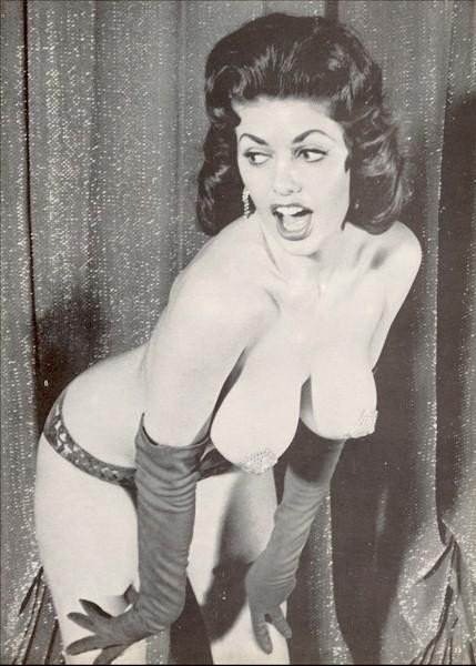 "Burlesque dancer Miss Beverly Hills. You might remember her as the stripper in ""Breakfast at Tiffany's"" 1961"