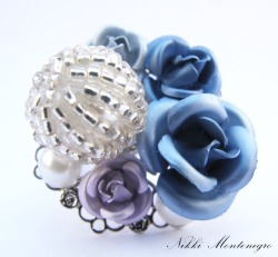 I made this Blueberry Soda ring for my summer jewellery collection: 'Of Malt Shoppes and Soda Pops' ♥