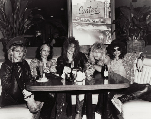Guns N Roses at Canter's Deli, LA, June 12, 1985
