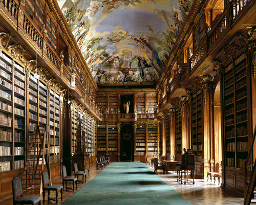 lydianea:  The Strahov Library in Prague, Czech Republic