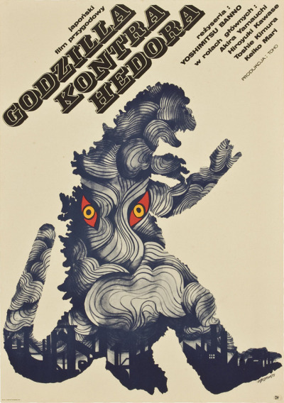 Monster Brains blog has posted a collection of vintage Japanese monster movie posters, but originating from Poland and the Czech Republic. See the rest of the post here.