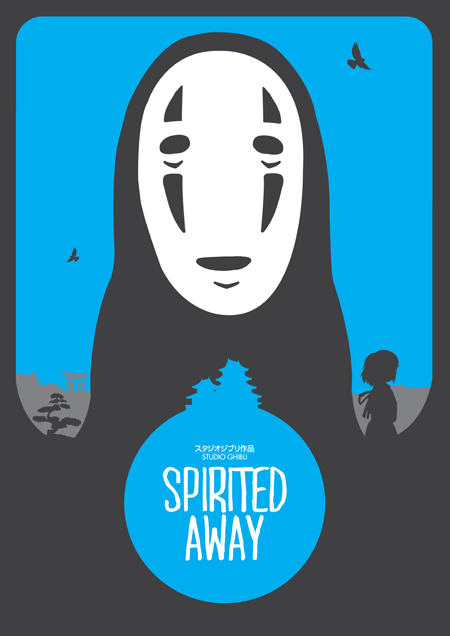 "mrneedle:  A Print inspired by one of my favorite Studio Ghibli Films ""Spirited Away"" To purchase and view other prints click image link below http://needledesign.bigcartel.com/product/spirited-away Size: 420mm x 297mm Hi-Gloss 250gsm print. Dispatched ASAP. worldwide Postage and packaging included in price (this is unofficial fan artwork)"