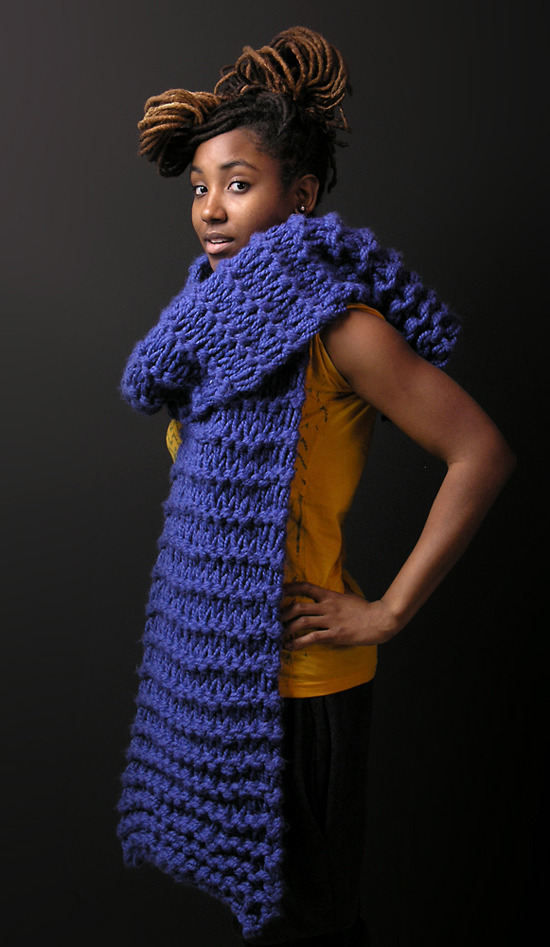 afro-art-chick:  EFF WINTER SCARF by Junkprints