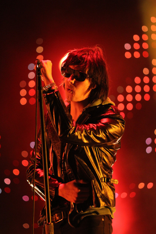 The always cool Julian Casablancas, of the epically cool Strokes.  From ACL.  Glad awesome pictures like this exist.  I didn't actually get to see the stage at all.  Watched the whole performance on the big screen from deep in the crowd.