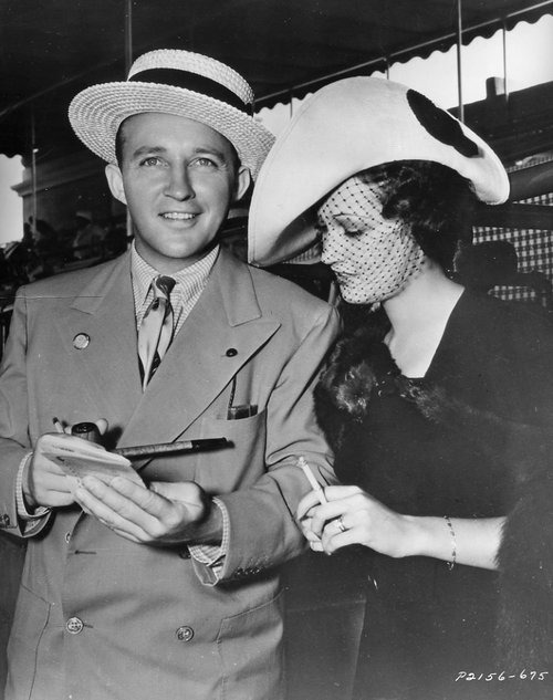 "magicmonkey89:  Bing & Dorothy  Bing Crosby and ""Dottie"" Lamour, looking fabulous, as usual."