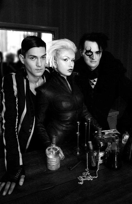 beautynursedondarkness:  Rich Royal, Zoetica Ebb and Clint CatalystPhoto: Brian Landes of RAF PhotographyMake-up by Annah of Belle Face