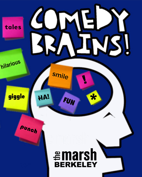"Tonight: Comedy Brains @ The Cabaret at The Marsh. 2120 Allston Way. Berkeley, CA. 8:30 PM. $15. Featuring Janine Brito, Zahra Noorbakhsh, and Betsy Salkind.   [Los Angeles mind blower Betsy Salkind, once a Bay Area favorite performing in ""Anne Frank Superstar"" at The Marsh, ""Viva Variety,"" Cobb's, and The Punchline, rising comedy sensation Janine Brito, and cheeky solo performer Zahra Noorbakhsh in an excerpt from her acclaimed love story ""All Atheists are Muslim.""] via The Marsh"