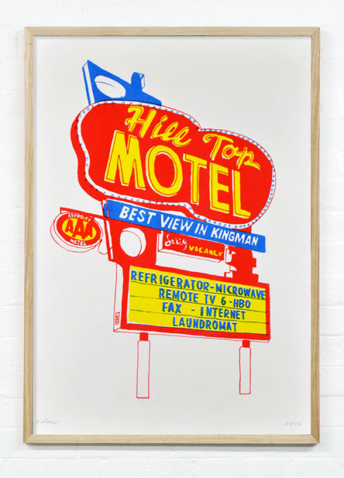 Motel Prints by Holly Wales