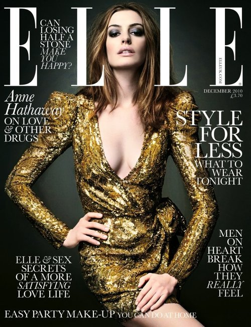 they.call.them.celebrities - covers anne hathaway . elle uk . december 2010