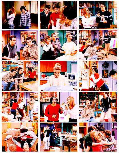 "Top Ten Friends Episodes (In no particular order) | 4.12 TOW The Embryos Ross: Every week the TV Guide comes to Chandler and Joey's apartment. What name appears on the address label? Rachel: Oh! Chandler gets it. It's Chandler Bing. Monica: No. Ross: I'm afraid the TV Guide comes to ""Chanandler Bong"". Monica: I knew that. Rachel, use your head. Chandler: Actually, it's Miss Chanandler Bong. _______________________________ Frank Jnr: ""MY SISTERS HAVING MY BABY."""