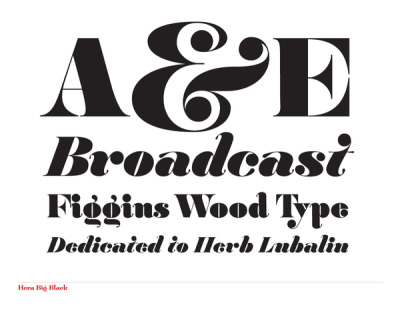 "Hera is a font family in three weights. The family explores the motion and fluidity of the ball serif, in an evolution from its previous identity as a counterpart to the slab serif. The best of the classic slab fonts ingeniously used the ball serif as a means to terminate a stroke with rotational velocity. In this type universe the slab behaves like physics; the stroke hits the baseline and the impact pancakes it into the slab. As such, a stroke with rotational velocity such as the arm of the lowercase ""r"" terminates into a vortex, as if the ball serif were the roll to which the ribbon of the stroke was spooled onto. In Hera, there is far less slab, as the slab represents a physical byproduct of right angles and geometric form. Hera is informed by classical slab fonts like Clarendon, the wood type of Vincent Figgins and the work of Herb Lubalin.  www.lucassharp.com"