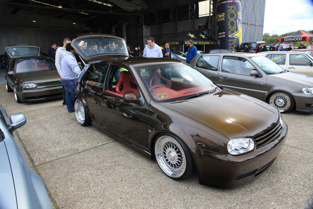 stancedubgirl:  folkeswagen:  VOLK SWAG EN Tank's MK4 at Players 4.0  god -__- I love that color
