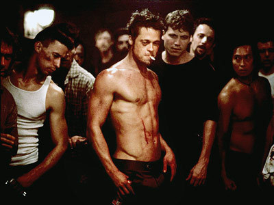 i swear, brad pitt's body in this movie is just fucking PERFECT. he's all chiseled and sculpted but not too bulky. and those hips. mmph. (also, i am not glossing over brad pitt's acting in this movie either, because it's also flawless. i'm just being shallow for a minute)