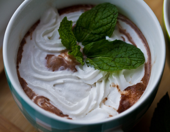 Minty-Crème Soy Cocoa! I am a fiend for anything minty and chocolatey.