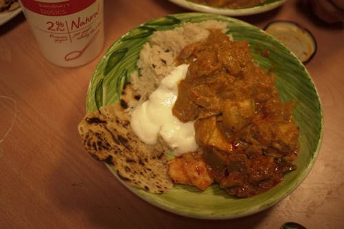 Dan made creamy chicken curry.