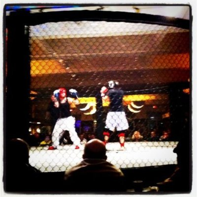 juliaallison:   Covering an MMA competition on-air for a pilot. Whoa. (Taken withInstagram at Western suburbs, Illinois)